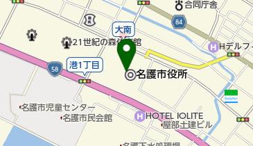 名護市役所の地図画像