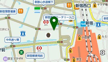 ベストメガネコンタクト 新宿西口駅前本店の地図画像