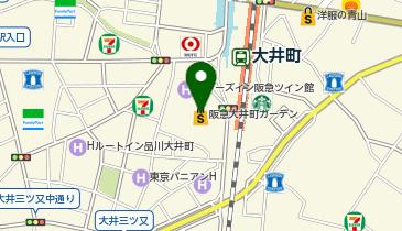 おふろの王様 大井町店の地図画像