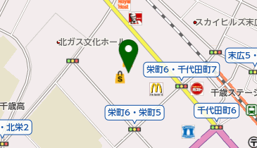 築地銀だこ イオン千歳店の地図画像
