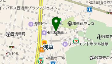 日本中央競馬会 WINS(ウインズ)浅草の地図画像