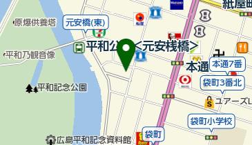 アニメイト広島の地図画像
