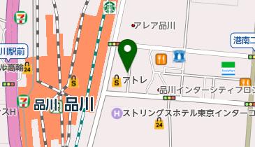 品川 港南口 タクシー乗り場の地図画像