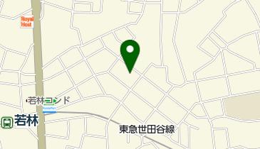 烏山川緑道の地図画像