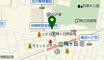 梅丘パークホールの地図画像