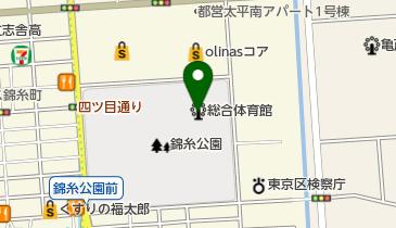 墨田区総合体育館の地図画像