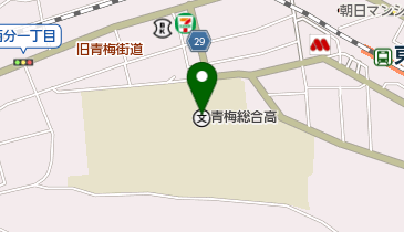 都立青梅総合高校の地図画像
