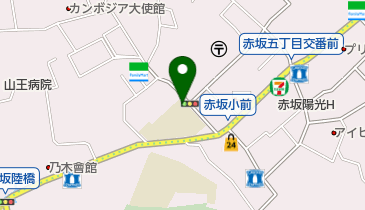 赤坂小学校の地図画像