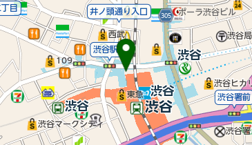 渋谷警察署 渋谷駅前交番の地図画像
