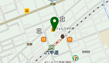 ケンタッキーフライドチキン フォレスタ六甲店の地図画像