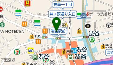 スターバックスコーヒー SHIBUYA TSUTAYA店の地図画像