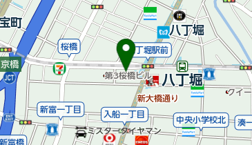 すき家 八丁堀四丁目店の地図画像
