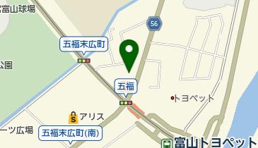 すき家 富山五福店の地図画像