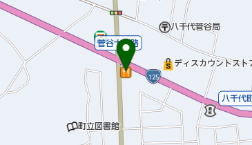 すき家 125号八千代町店の地図画像