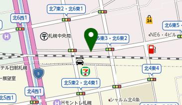 日産レンタカー 札幌駅北口店の地図画像