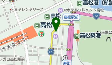 オリックスレンタカー 高松駅前西の丸店の地図画像