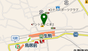 ABC-MART 近鉄生駒店の地図画像
