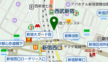 ABC-MART 西武新宿ペペ店の地図画像