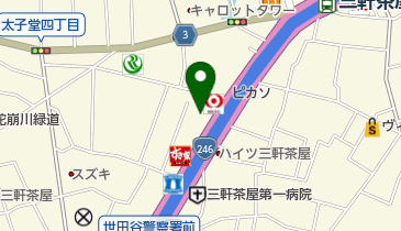 しまむら三軒茶屋店の地図画像