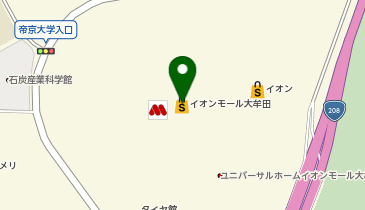 美山 イオンモール大牟田店の地図画像