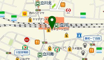 長田本庄軒エキュート立川エキナカEASTの地図画像