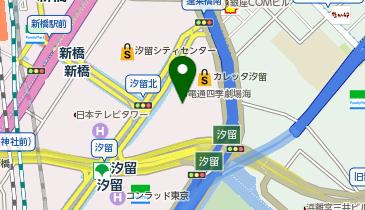 丸亀製麺カレッタ汐留の地図画像