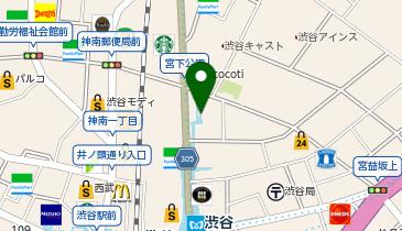 丸亀製麺渋谷メトロプラザの地図画像