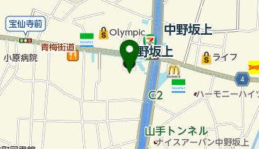 丸亀製麺中野坂上の地図画像