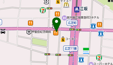 スシロー 江坂店の地図画像