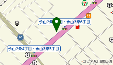 スシロー 旭川永山店の地図画像