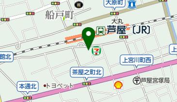 【無人ATM】りそな銀行 JR芦屋駅前出張所 無人ATMの地図画像