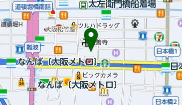 ラウンドワンスタジアム 千日前店の地図画像