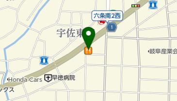 カレーハウスCoCo壱番屋 岐阜宇佐店の地図画像