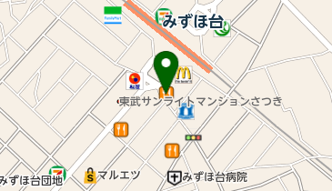 カレーハウスCoCo壱番屋 東武みずほ台駅西口店の地図画像