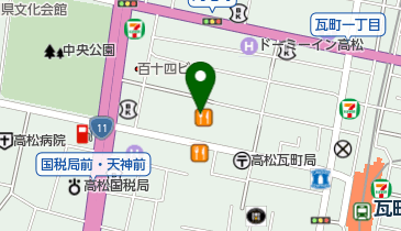 カレーハウスCoCo壱番屋 高松南新町店の地図画像