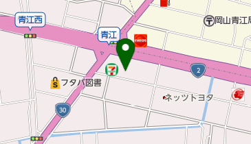 Jネットレンタカー岡山青江店の地図画像