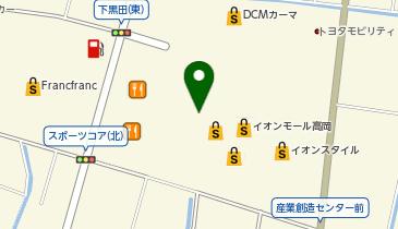 紅虎餃子茶寮 イオンモール高岡店の地図画像