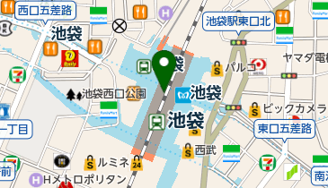 ユニクロ 池袋駅中央改札店の地図画像
