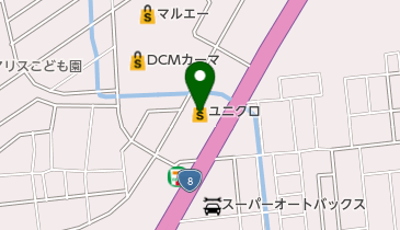 ユニクロ 野々市店の地図画像