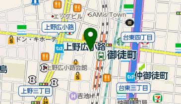 ユニクロ 御徒町店の地図画像