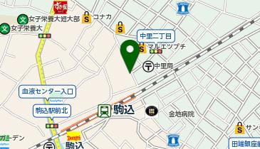 日高屋 駒込東口店の地図画像
