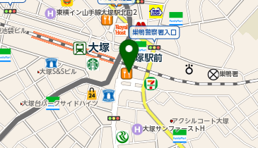 日高屋 大塚南口店の地図画像