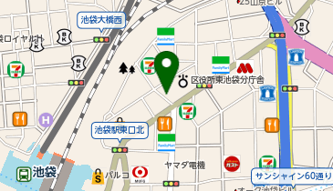 日高屋 池袋東口店の地図画像