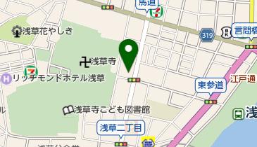 マツモトキヨシ 浅草二天門前店の地図画像