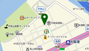 本家かまどや 天保山店の地図画像
