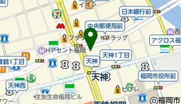 上島珈琲店 天神地下街店の地図画像