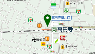 上島珈琲店 高円寺北口店の地図画像