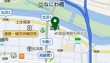 上島珈琲店 大阪証券取引所店の地図画像
