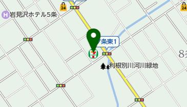 セブンイレブン 岩見沢中央通り店の地図画像