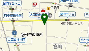 タイムズ大國魂神社の地図画像